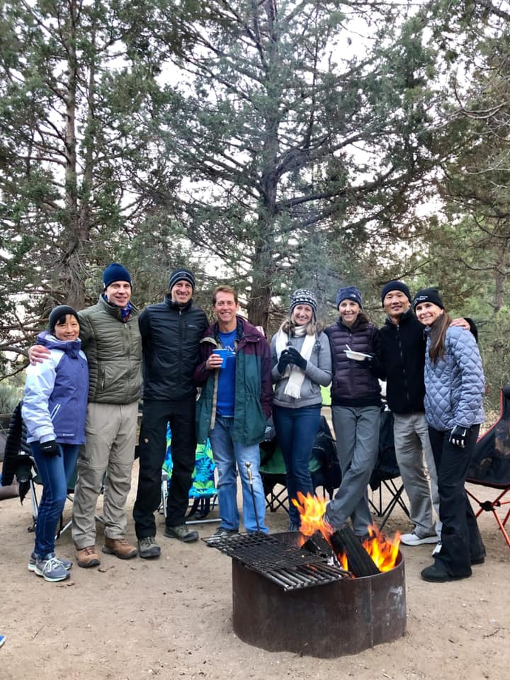Thomas on a camping trip with SCRR friends in Big Bear