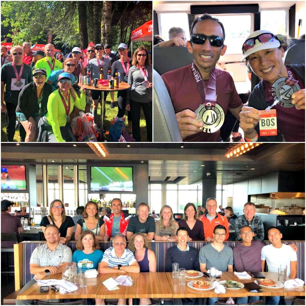 Collage of photos from the REVEL Mt Hood Marathon and Half Marathon