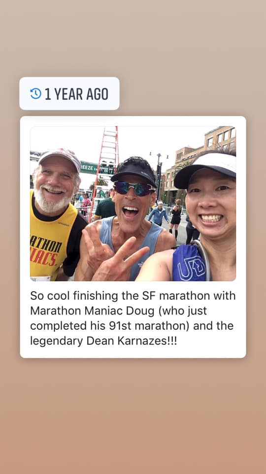 May with Dean Karnazes in 2018