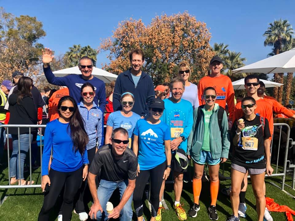 Club members after the race in Palm Springs