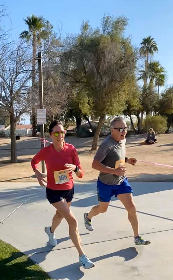 Barbara and Victor running the half marathon